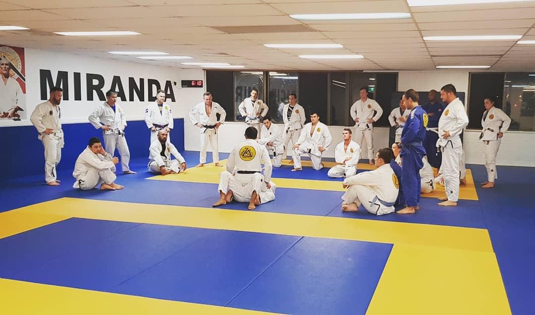 gracie jiu jitsu miranda BJJ training
